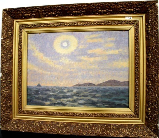 Seascape with Boat and Mountains 1975