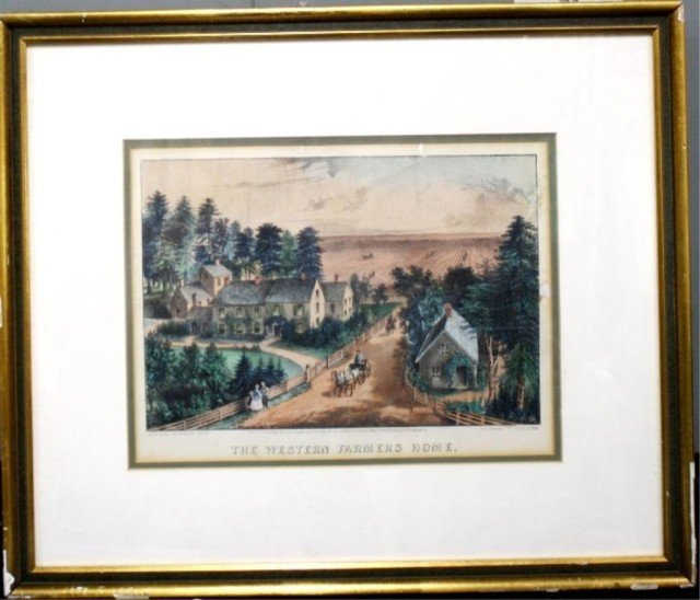 Currier & Ives Hand Colored Lithograph 1871