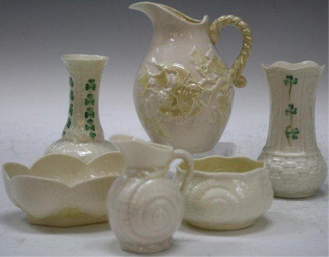 Irish Belleek Porcelain Set of 6