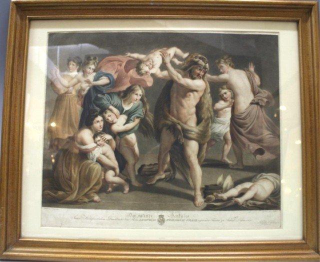 Framed Engraving of Hercules