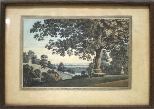 "J. Farington Print ""View of Carfax & Abingdon"""
