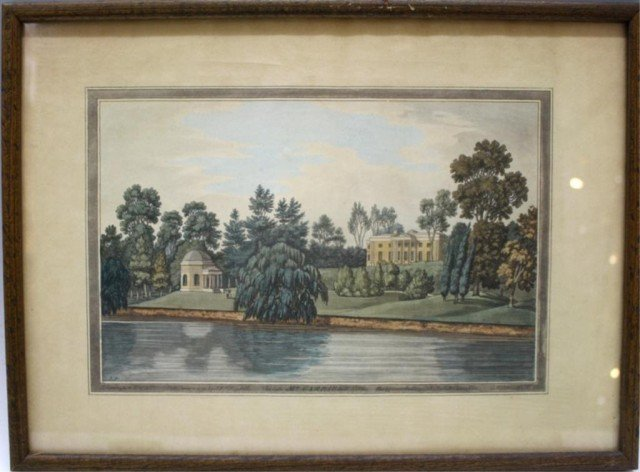 "J. Farington Print ""Mr. Garrick's Villa"""