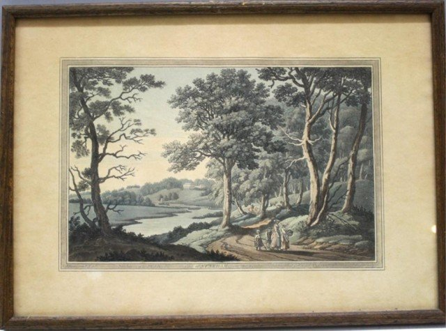 "J. Farington Print ""Nuneham from the Wood"""