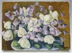 Oil on Canvas Still Life Flower Painting