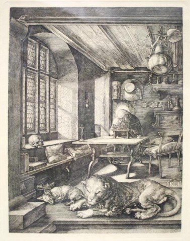 After Dürer Saint Jerome in His Study Engraving