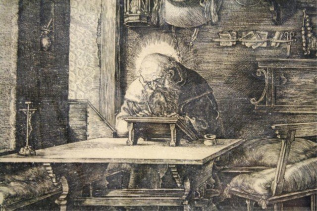After Dürer Saint Jerome in His Study Engraving - 3
