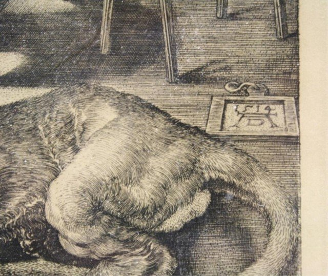 After Dürer Saint Jerome in His Study Engraving - 4