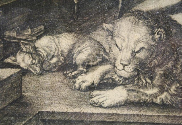 After Dürer Saint Jerome in His Study Engraving - 5