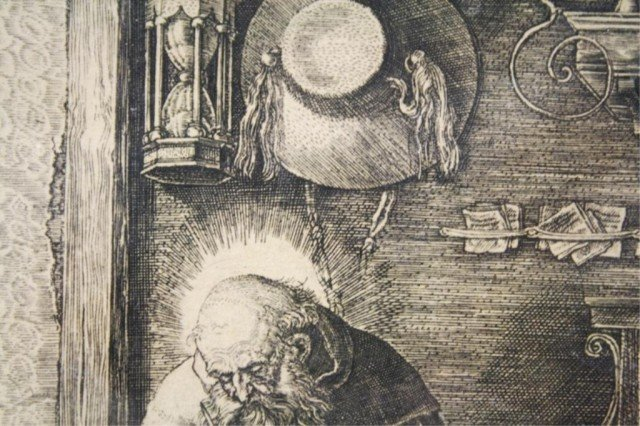 After Dürer Saint Jerome in His Study Engraving - 7