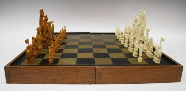 Chinese Antique Ivory Chess Set - 2