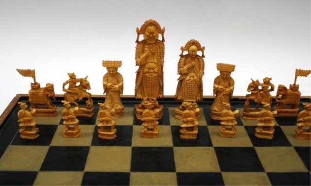 Chinese Antique Ivory Chess Set - 7