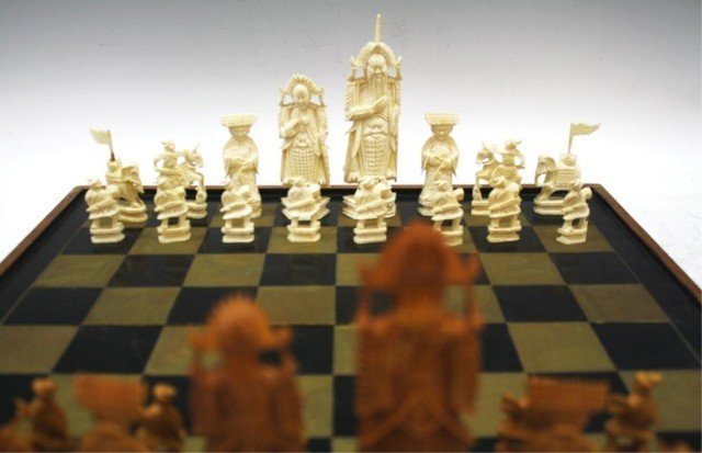 Chinese Antique Ivory Chess Set - 8