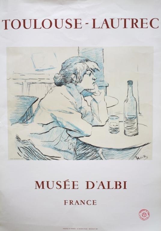 """Toulouse-Lautrec Museum Poster """"La Buveuse"""""""