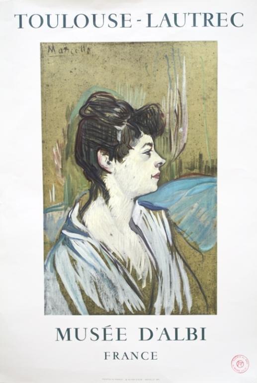 """Toulouse-Lautrec Museum Poster """"Marcelle"""""""