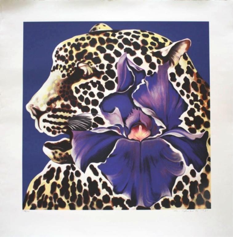L. Nesbitt Jaguar w/ Flower Screenprint