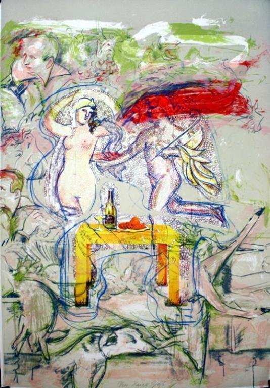 German Rainer Gross Lithograph