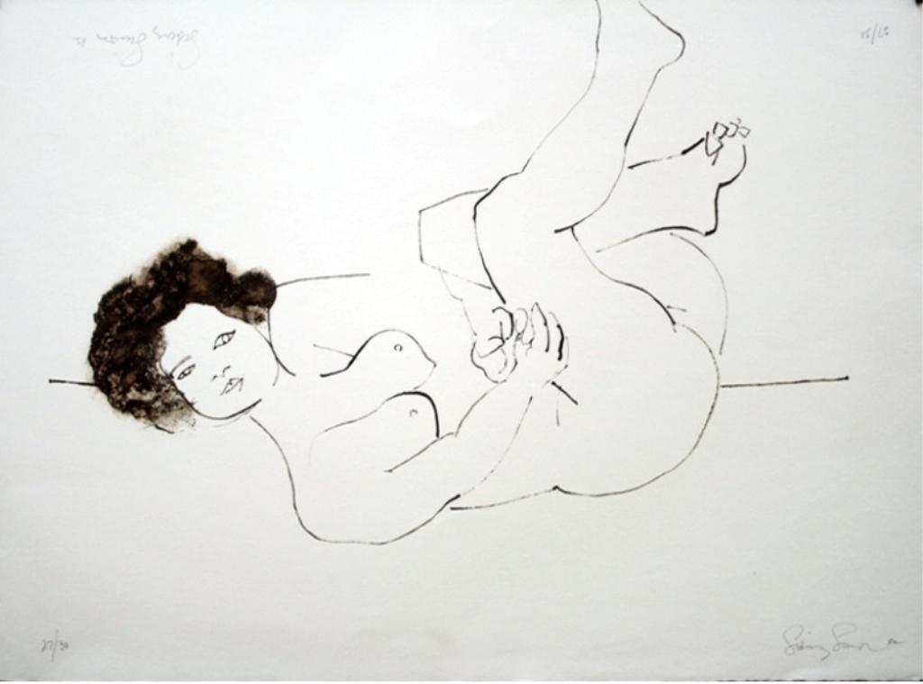 Sidney Simon Nude Lithograph