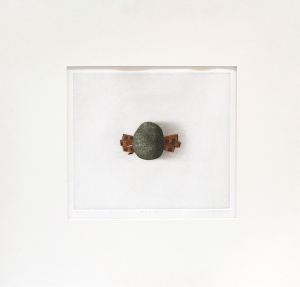"""Korean K.B. Hwang """"Stone & Tape"""" Etching"""