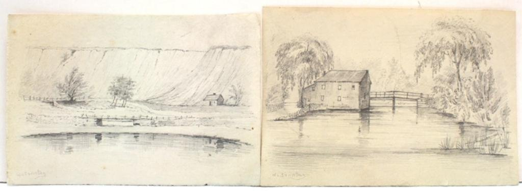 Lot of 2 William L. Sonntag Landscape Drawings