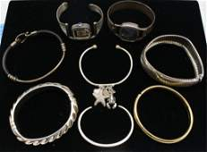 Lot of 8 Sterling Watches  Bracelets