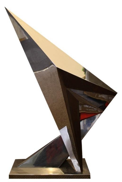 American Michi Raphael Chrome Sculpture d. 1980