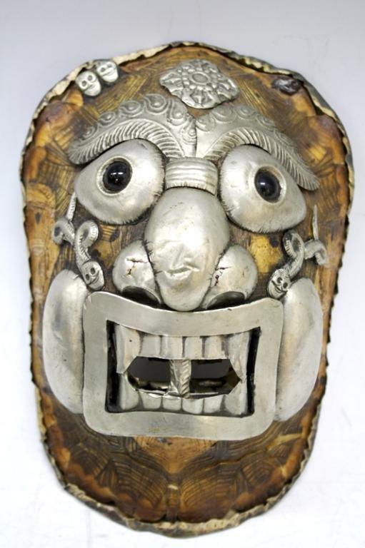 Tibetan Buddhist Kapala Tortoise Shell Mask