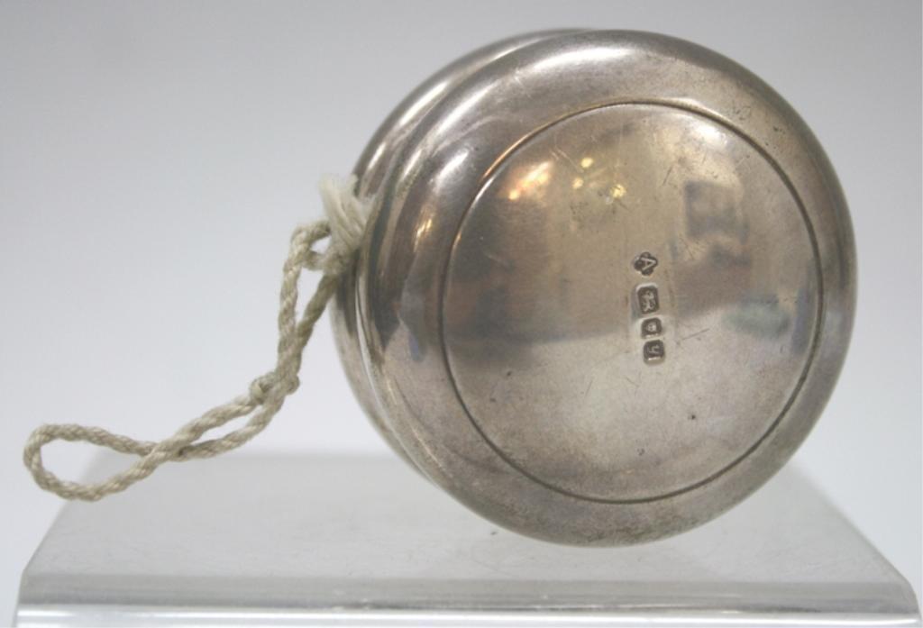 English Sterling Silver Yo-Yo, Hallmarked