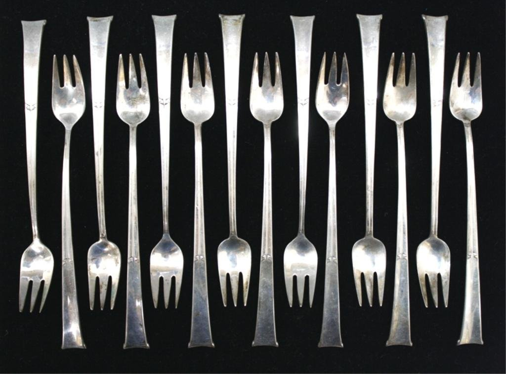Tiffany & Co. Sterling Linenfold Flatware, 14pcs.