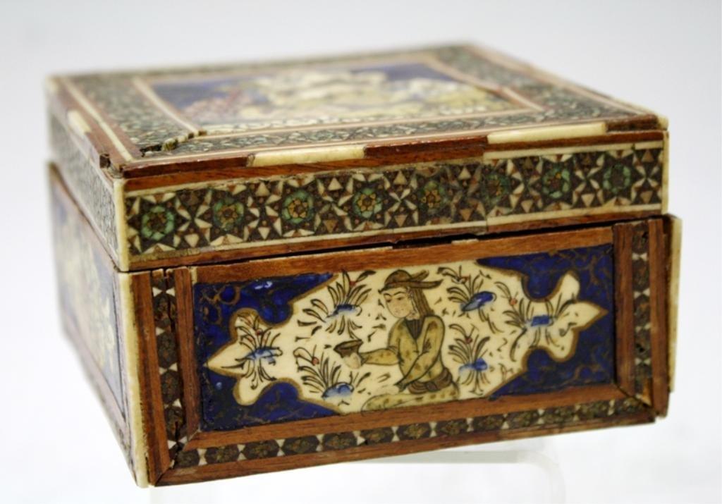 Persian Khatam Marquetry Mosaic Box