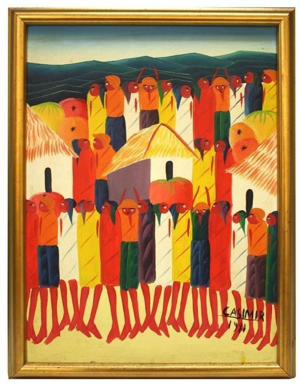 Haitian Laurent Casimir Painting 1980
