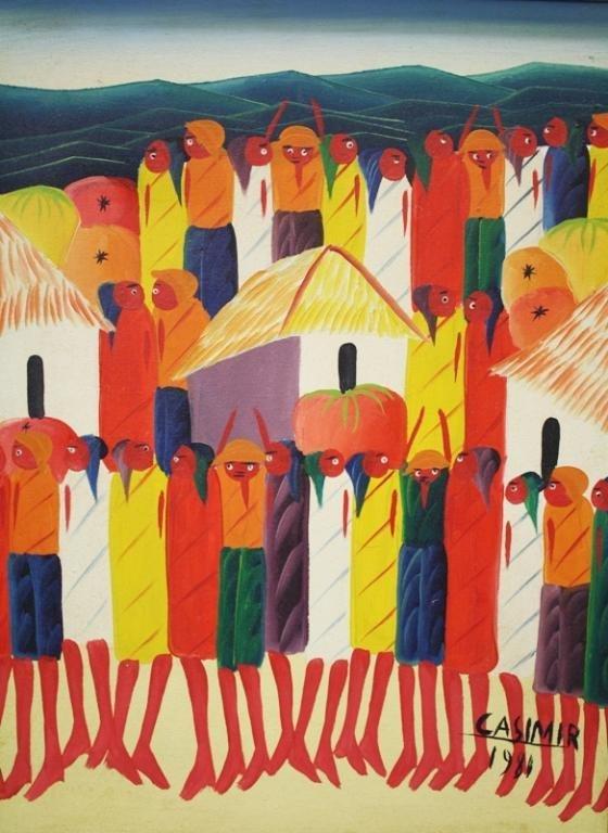 Haitian Laurent Casimir Painting 1980 - 2