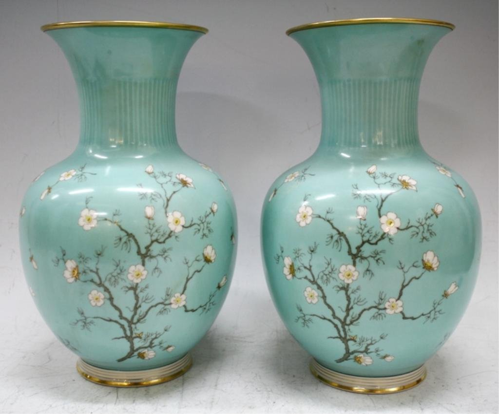 Pair of German Hertel-Jacob Bavaria Vases