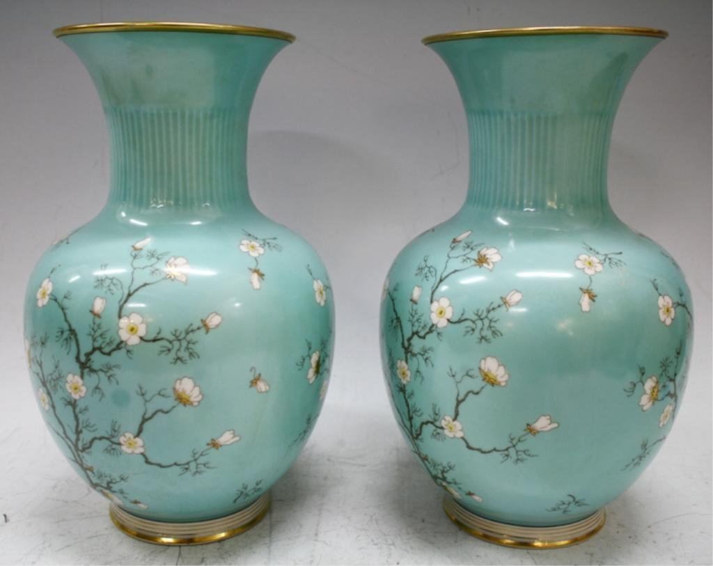 Pair of German Hertel-Jacob Bavaria Vases - 2