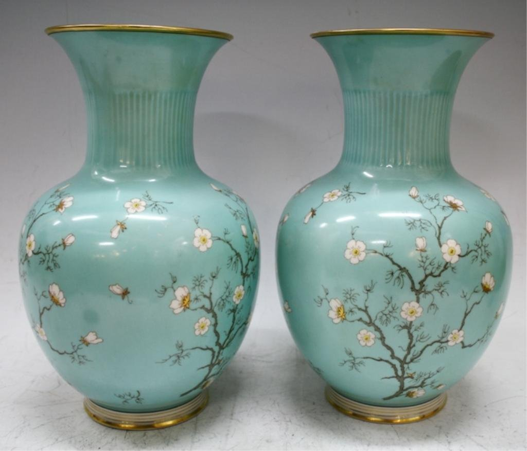 Pair of German Hertel-Jacob Bavaria Vases - 3