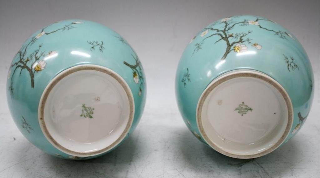 Pair of German Hertel-Jacob Bavaria Vases - 5