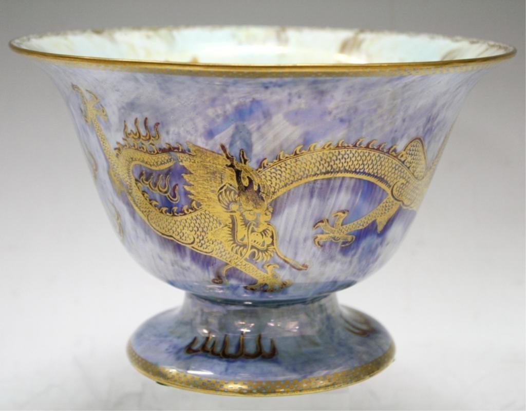 Wedgwood Blue Fairyland Lustre Footed Bowl c.1920