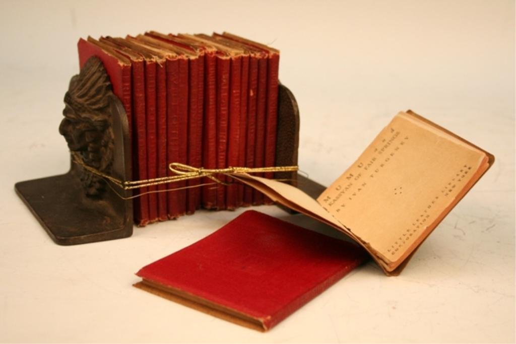 Little Leather Library Books & Bookends - 5