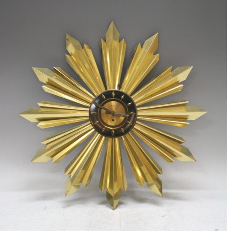Mid Century Welby Sunburst Clock