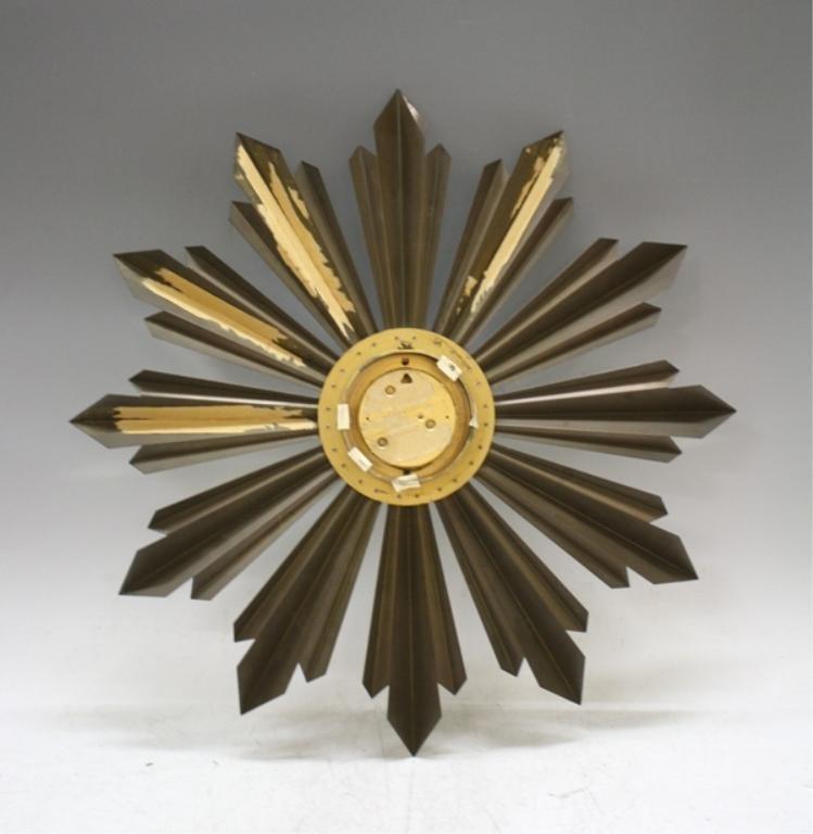 Mid Century Welby Sunburst Clock - 2
