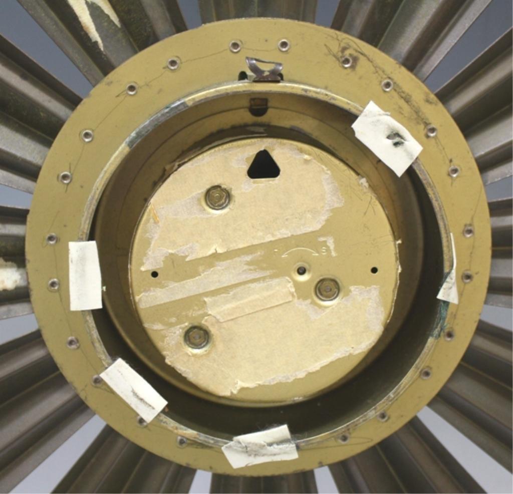 Mid Century Welby Sunburst Clock - 3