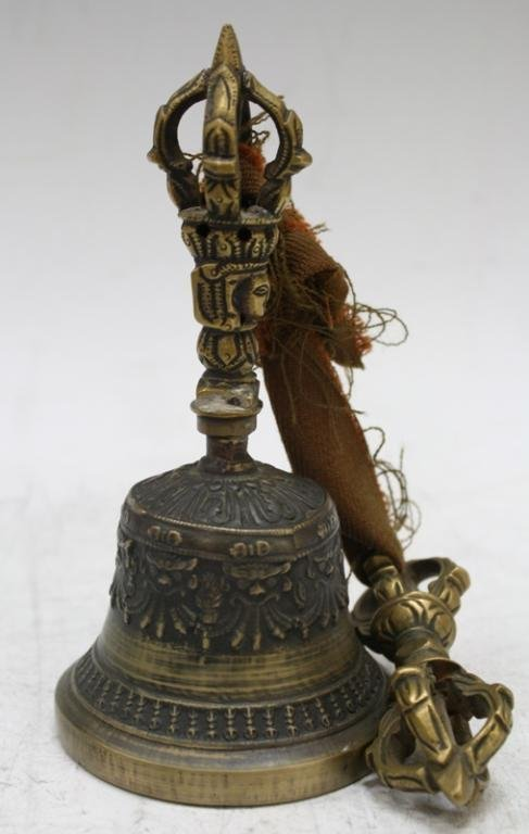 Mongolian Buddhist Bronze Temple Bell, late 18th C - 2
