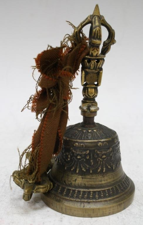 Mongolian Buddhist Bronze Temple Bell, late 18th C - 3