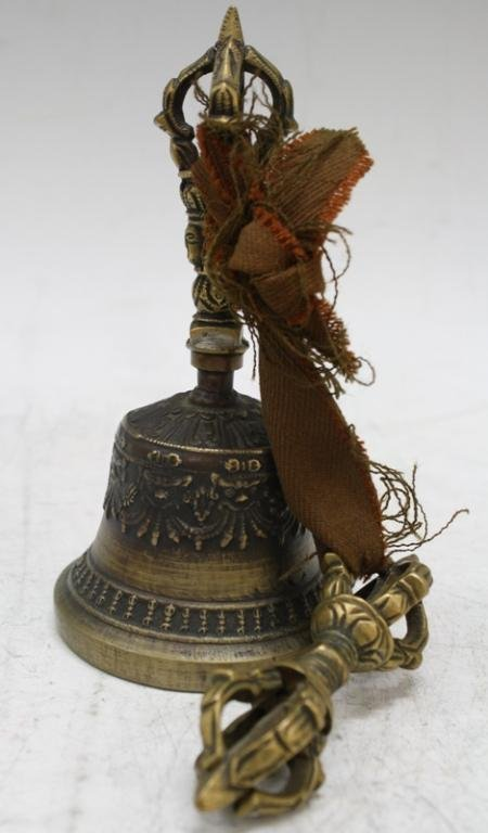 Mongolian Buddhist Bronze Temple Bell, late 18th C - 4