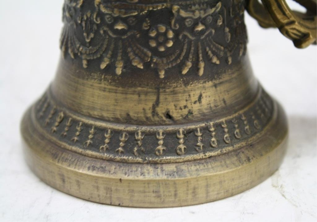 Mongolian Buddhist Bronze Temple Bell, late 18th C - 8