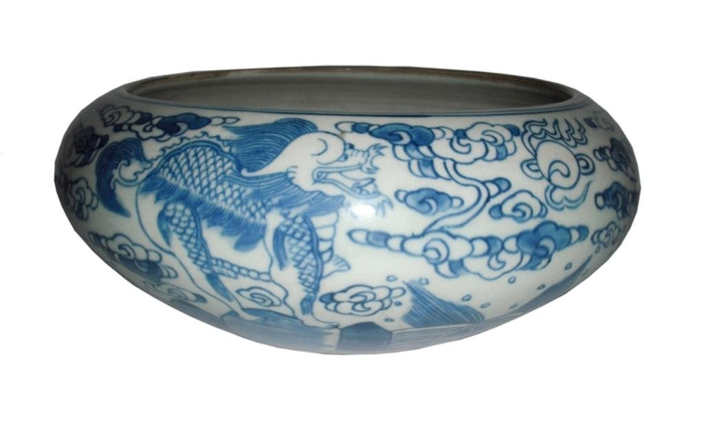 Chinese Blue & White Porcelain Water Pot