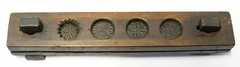 Old Korean Rice Cake Press with Carved Symbolism