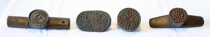 Korean Set of Four 19th Century Rice Cake Molds