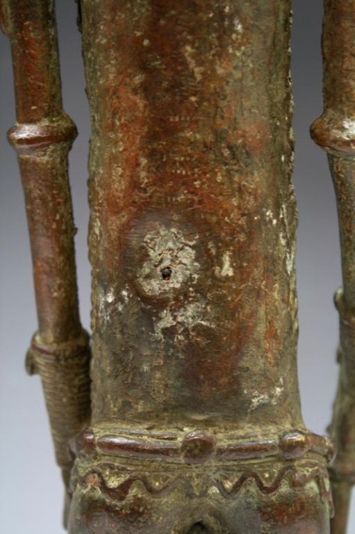 African Benin Bronze Yoruba Statue - 6