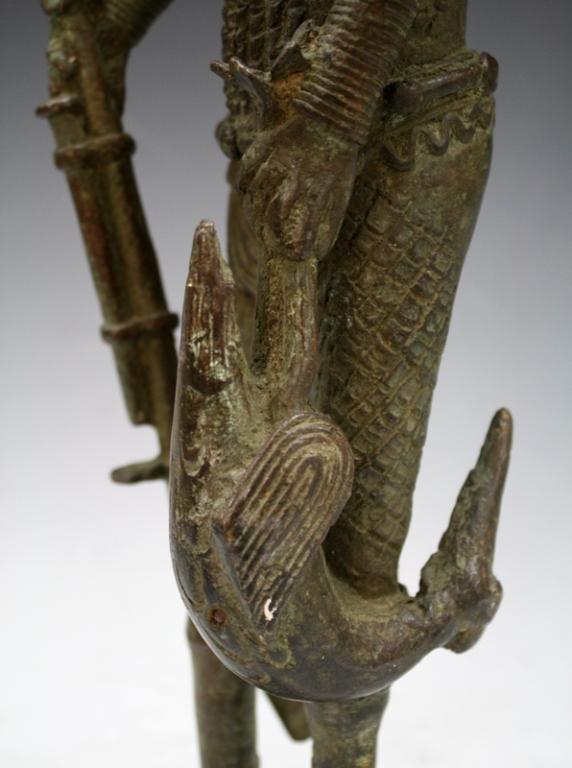 African Benin Bronze Yoruba Statue - 8