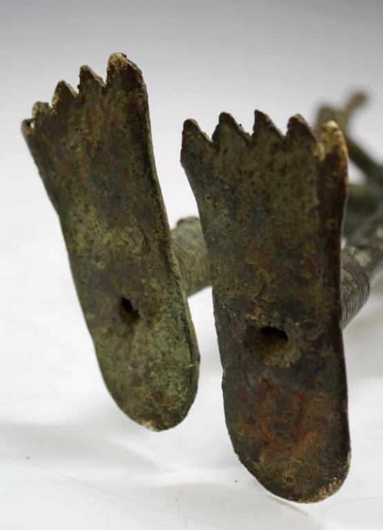 African Benin Bronze Yoruba Statue - 9
